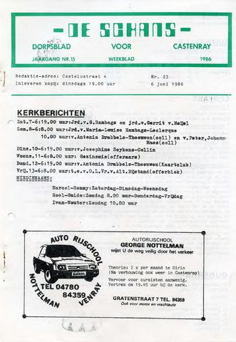 Castenrays dorpsblad De Schans 1986-06-06