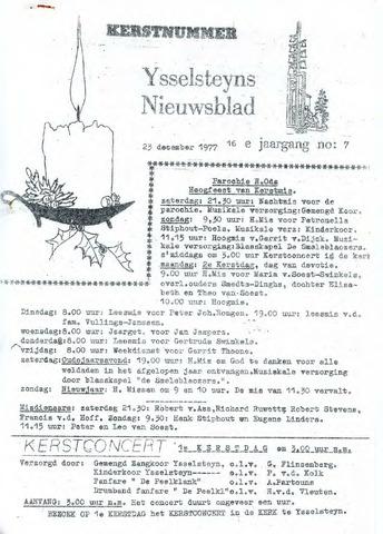 Ysselsteyns Nieuwsblad 1977-12-23