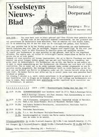 Ysselsteyns Nieuwsblad 1993-09-24