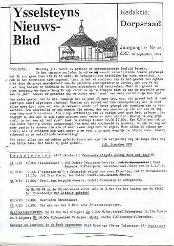 Ysselsteyns Nieuwsblad 1994-09-30