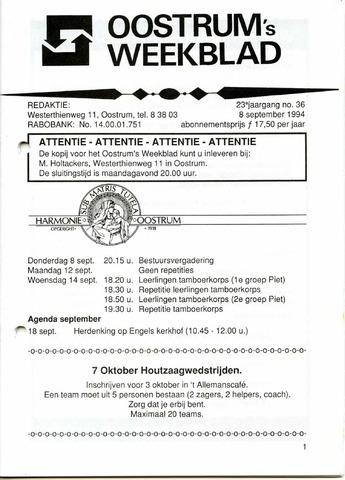 Oostrum's Weekblad 1994-09-08