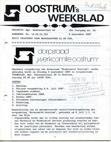 Oostrum's Weekblad 1987-09-02