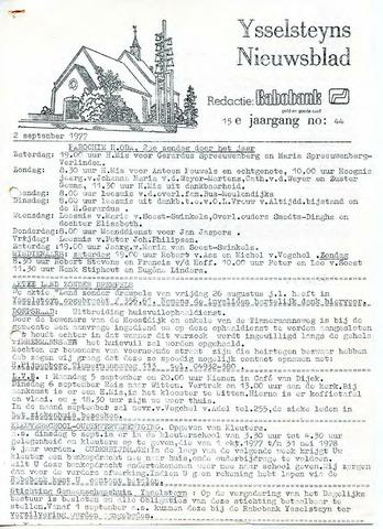 Ysselsteyns Nieuwsblad 1977-09-02