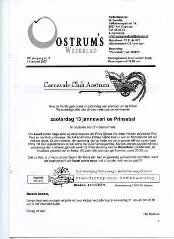 Oostrum's Weekblad 2007-01-11
