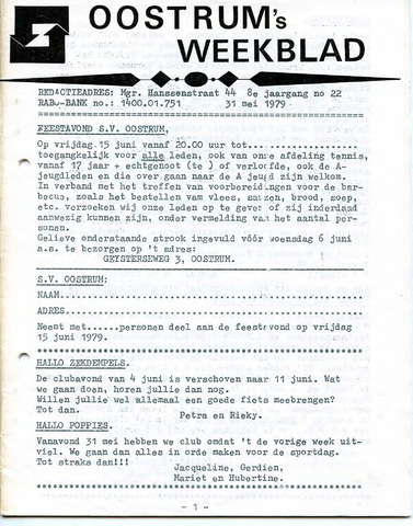 Oostrum's Weekblad 1979-05-31