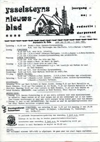Ysselsteyns Nieuwsblad 1982-05-28