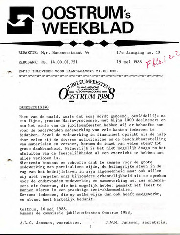 Oostrum's Weekblad 1988-05-19