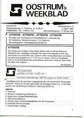 Oostrum's Weekblad 1994-03-03