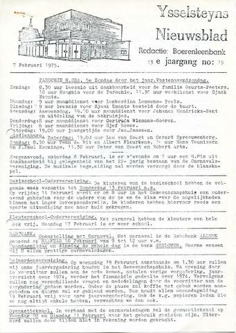 Ysselsteyns Nieuwsblad 1975-02-07