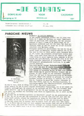 Castenrays dorpsblad De Schans 1981-08-21