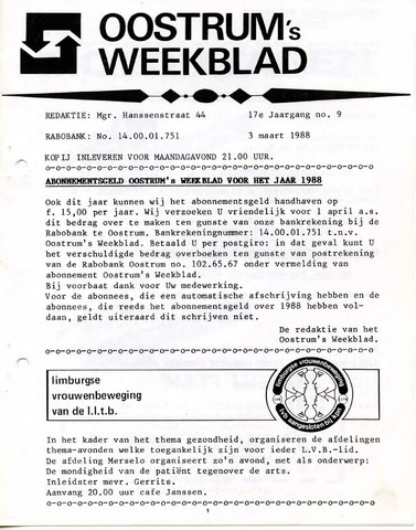 Oostrum's Weekblad 1988-03-03