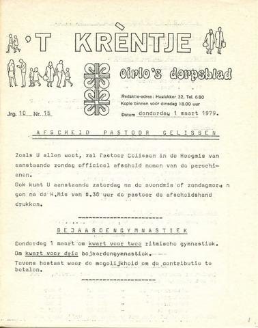 Oirlo's dorpsblad 't Krèntje 1979-03-01