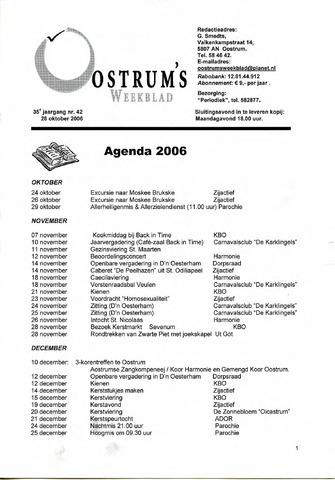 Oostrum's Weekblad 2006-10-26