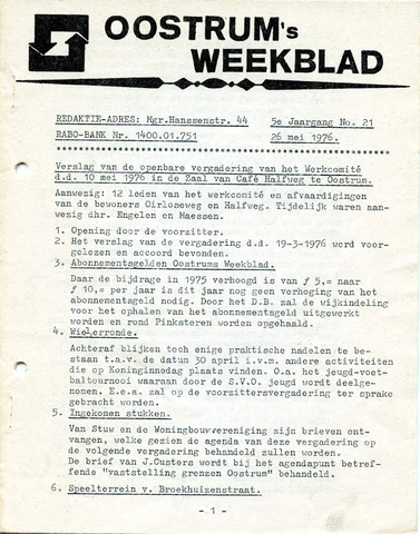 Oostrum's Weekblad 1976-05-26