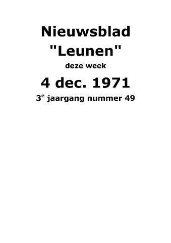 Dorpsblad Leunen-Veulen-Heide 1971-12-04