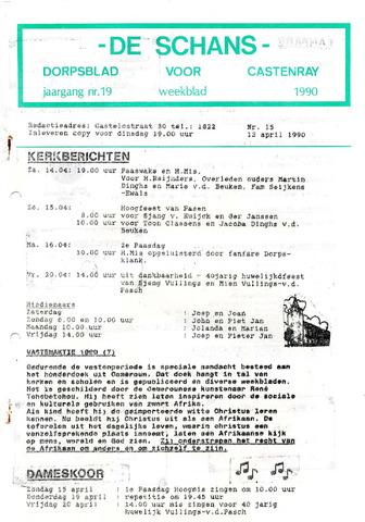 Castenrays dorpsblad De Schans 1990-04-13