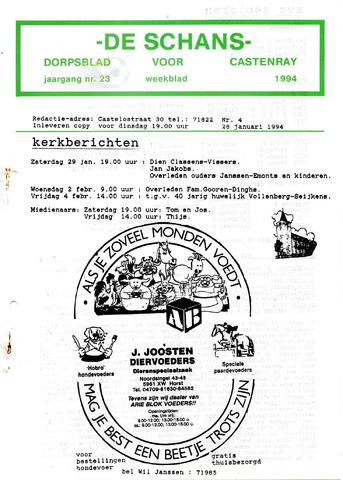 Castenrays dorpsblad De Schans 1994-01-28
