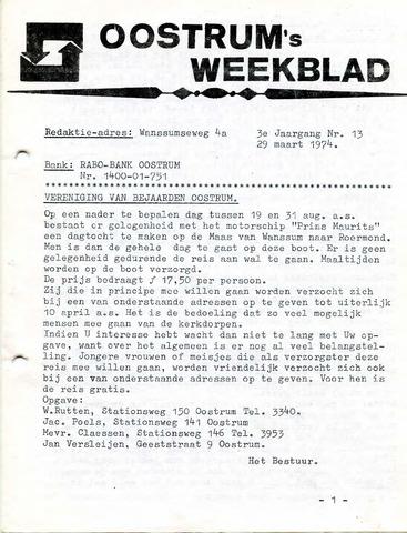 Oostrum's Weekblad 1974-03-29