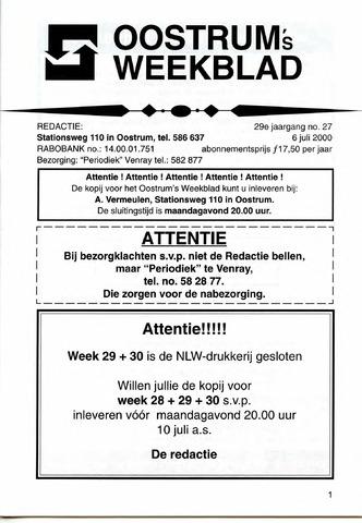 Oostrum's Weekblad 2000-07-06
