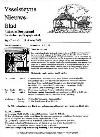 Ysselsteyns Nieuwsblad 2009-10-23