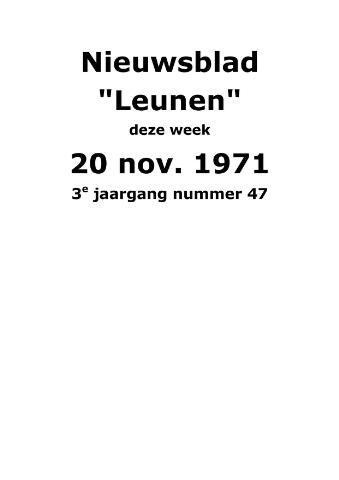Dorpsblad Leunen-Veulen-Heide 1971-11-20