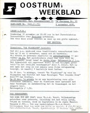 Oostrum's Weekblad 1978-11-09