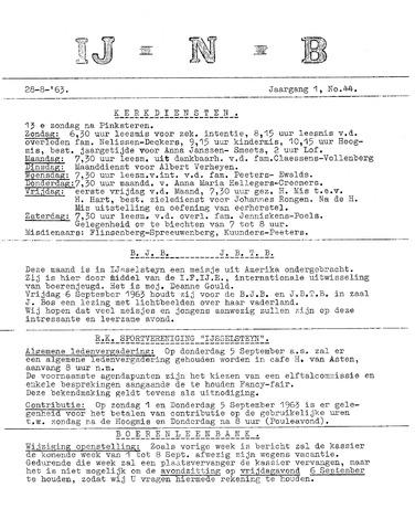 Ysselsteyns Nieuwsblad 1963-08-28