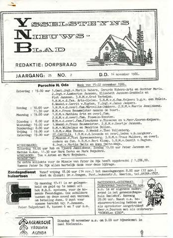 Ysselsteyns Nieuwsblad 1986-11-14