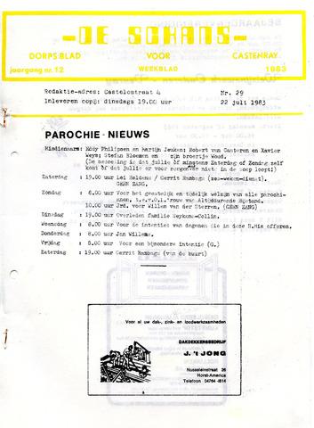 Castenrays dorpsblad De Schans 1983-07-22