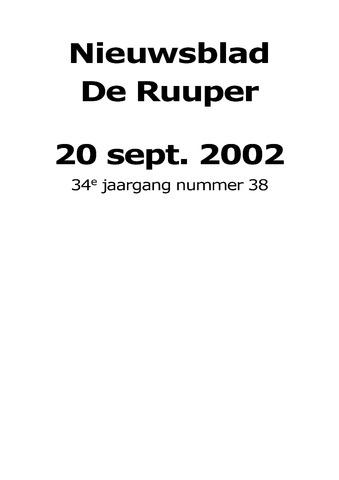 Dorpsblad Leunen-Veulen-Heide 2002-09-20