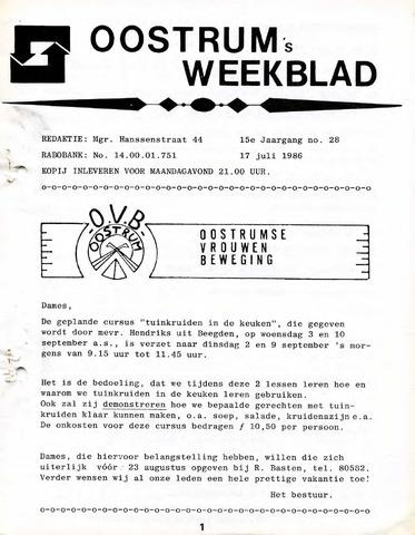 Oostrum's Weekblad 1986-07-17