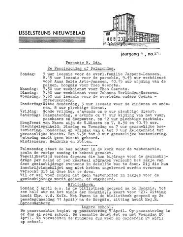 Ysselsteyns Nieuwsblad 1966-03-31