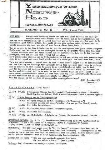 Ysselsteyns Nieuwsblad 1989-03-03
