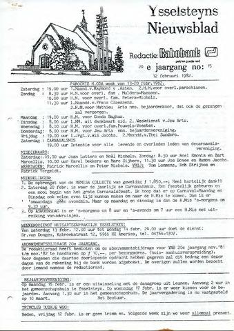 Ysselsteyns Nieuwsblad 1982-02-12