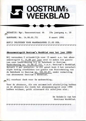 Oostrum's Weekblad 1990-03-08