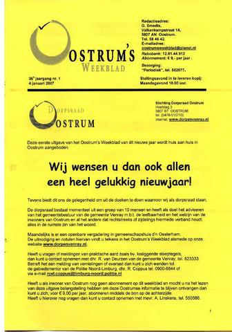 Oostrum's Weekblad 2007-01-04