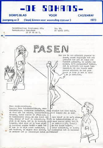 Castenrays dorpsblad De Schans 1973-04-20