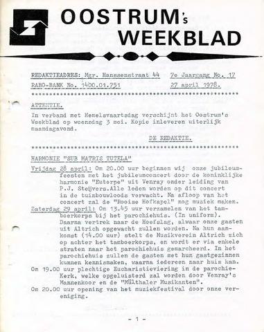 Oostrum's Weekblad 1978-04-27