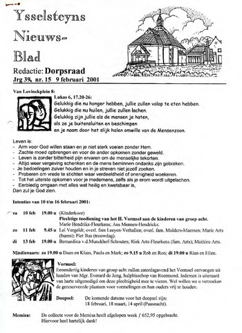 Ysselsteyns Nieuwsblad 2001-02-09