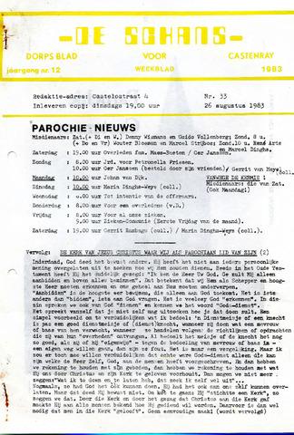 Castenrays dorpsblad De Schans 1983-08-26