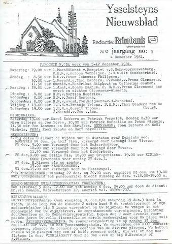 Ysselsteyns Nieuwsblad 1981-12-04