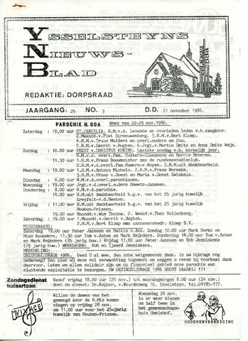 Ysselsteyns Nieuwsblad 1986-11-21