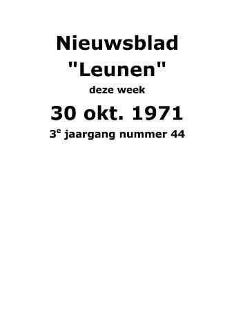 Dorpsblad Leunen-Veulen-Heide 1971-10-30