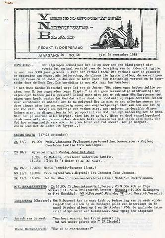 Ysselsteyns Nieuwsblad 1988-09-16