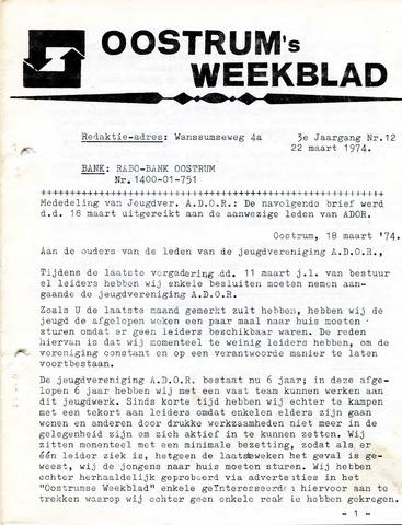 Oostrum's Weekblad 1974-03-22