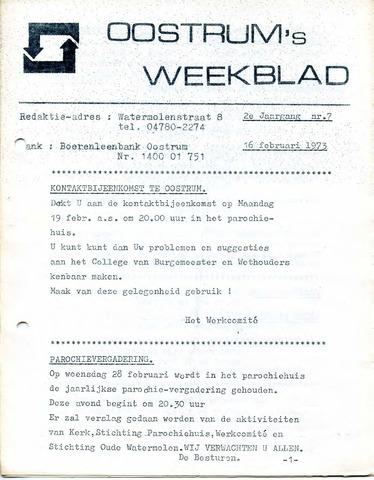 Oostrum's Weekblad 1973-02-16