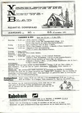 Ysselsteyns Nieuwsblad 1986-11-28