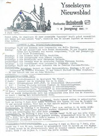 Ysselsteyns Nieuwsblad 1977-06-03