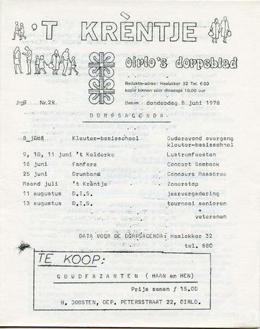 Oirlo's dorpsblad 't Krèntje 1978-06-08