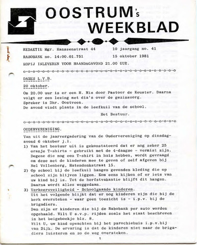 Oostrum's Weekblad 1981-10-15